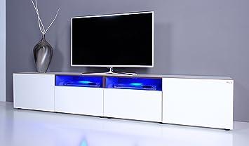 Lowboard led  TV Lowboard NOOMO weiß Hochglanz inkl. RGB-LED Beleuchtung: Amazon ...