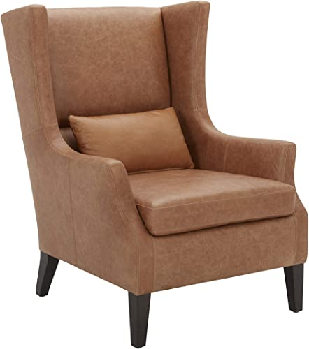 Amazon Brand Stone Beam Wingard Leather Wingback Accent Chair