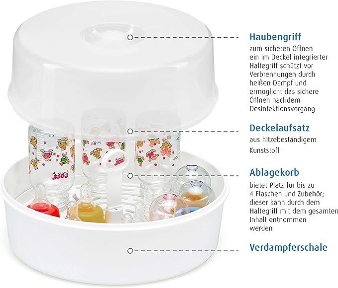 Reer 3295.1 - Esterilizador de biberones para microondas: Amazon ...