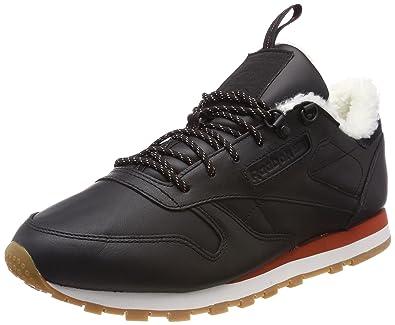 a2aea0598055 Reebok Damen Classic Leather Arctic Sneaker, Schwarz (Black Burnt  Amber Chalk