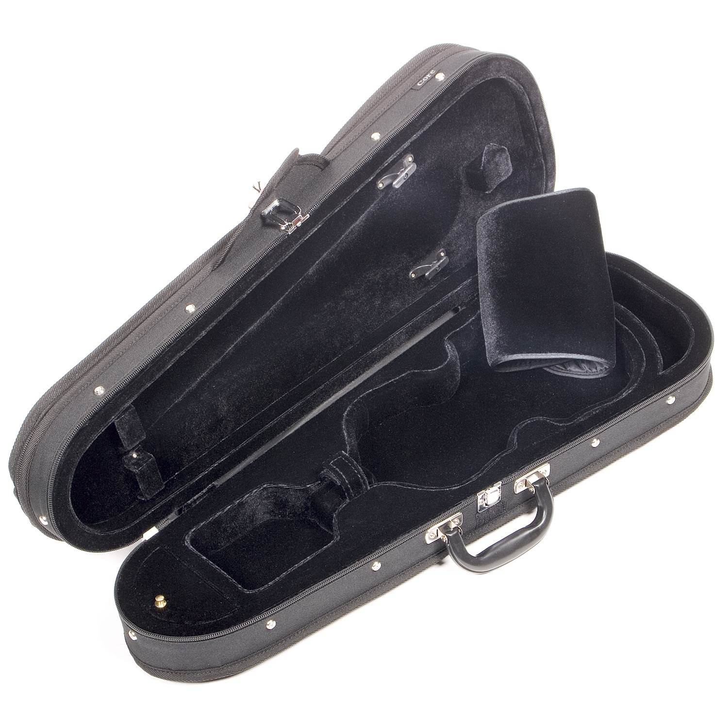 Core CC399 Dart-Shaped 3/4 Violin Case with Black Velvet Interior by Core (Image #2)