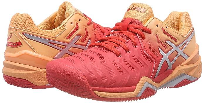 ASICS Gel Resolution 7 Clay, Chaussures de Tennis Femme