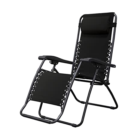 outdoor black yard gravity chair xl zero lounge dp patio com of chairs beach anti amazon case