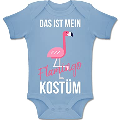 Shirtracer Karneval und Fasching Baby - Das ist Mein Flamingo Kostüm - 1-3  Monate