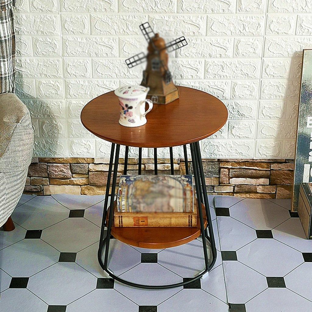 コーヒーテーブル コーヒーテーブル、レストランバーベッドルームリビングルームホテルテーブルラウンドテーブルミーティングテーブルデザートテーブルサイドテーブルヴィンテージソリッドウッドサイズ45 * 45 * 50CM 小さなコーヒーテーブル (色 : B) B07F444JWN B B