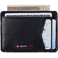 Alpine Swiss Men's RFID Minimalist Oliver Front Pocket Wallet Leather York Collection