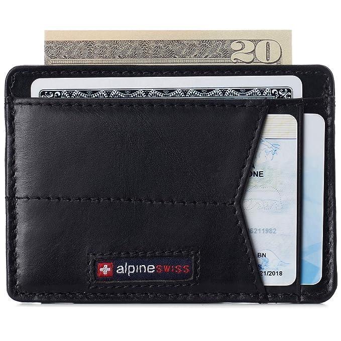 Amazon.com: Alpine Swiss RFID Minimalist Oliver - Cartera de ...