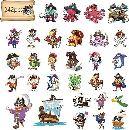 Halloween accessoires-Pirate tatouages