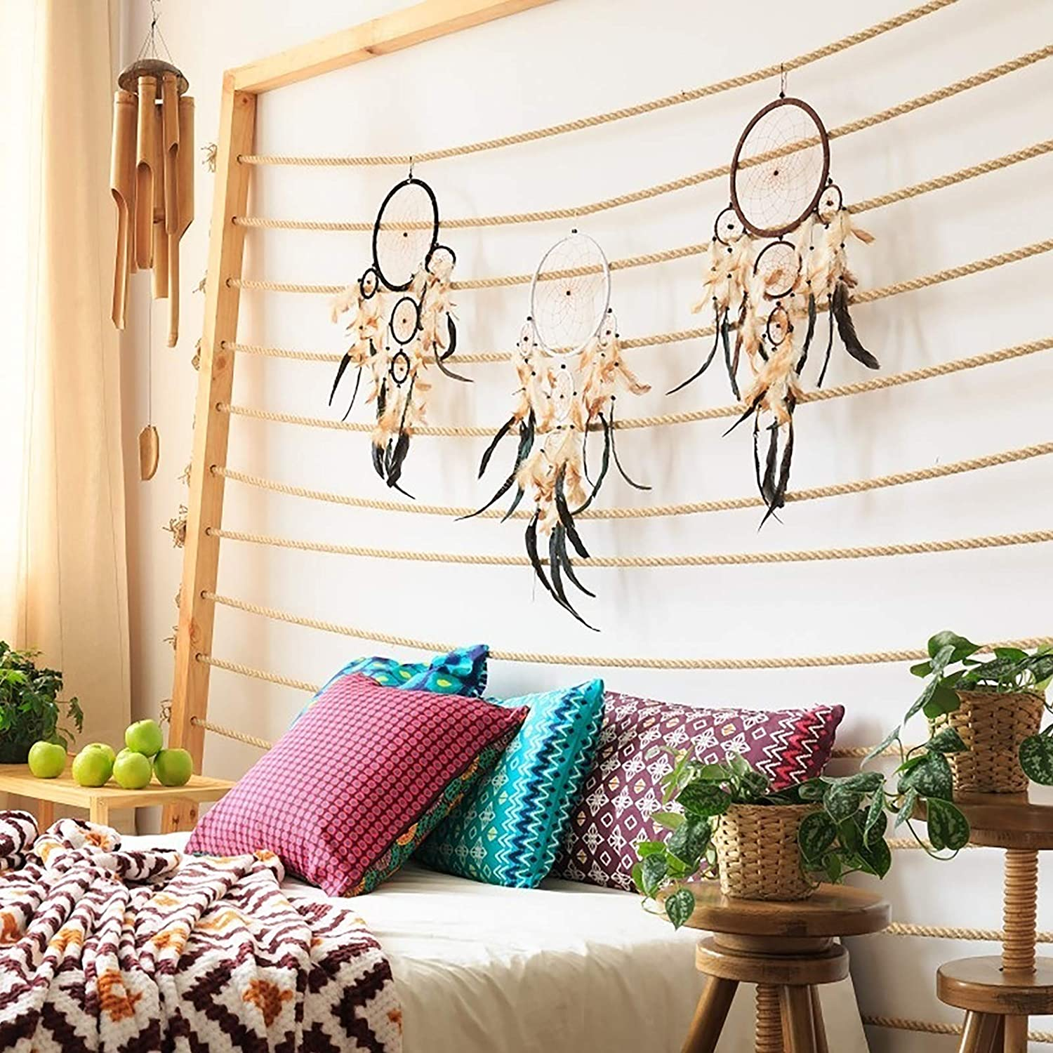 AirSMall 12PCS Dream Catcher Hoops 6 Different Size in Two Colours