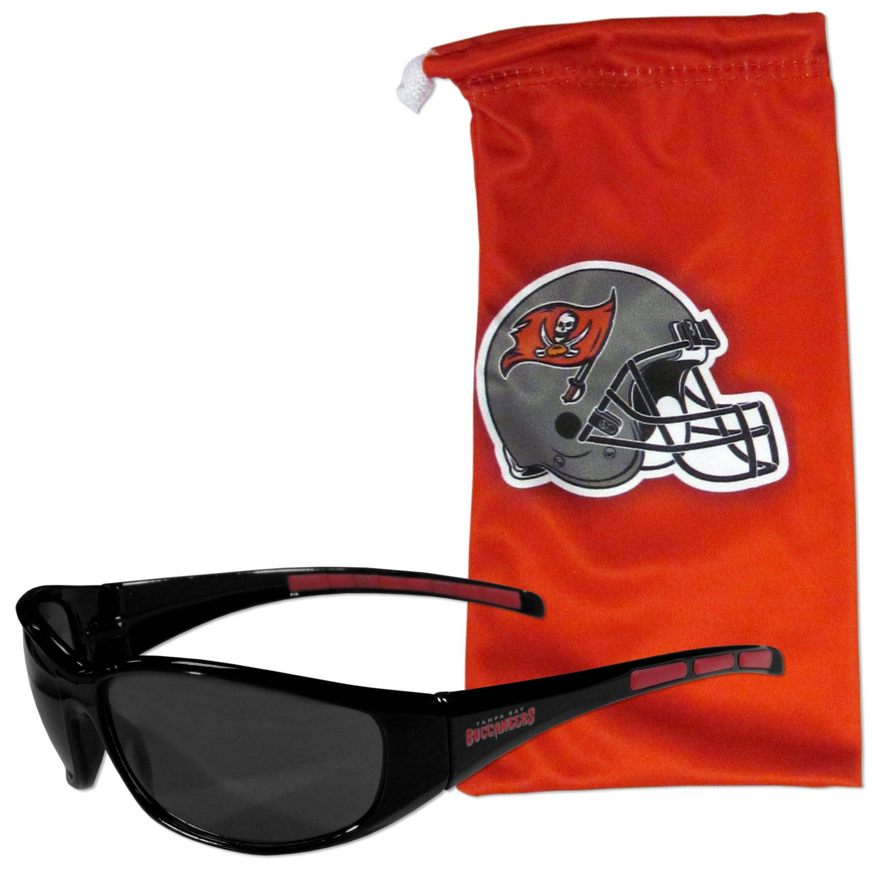 NFL Tampa Bay Buccaneers Adult Sunglass and Bag Set, Red
