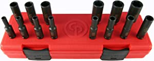"Chicago Pneumatic SS2114D 1/4""Drive 14 Piece Metric Deep Impact Socket Set"