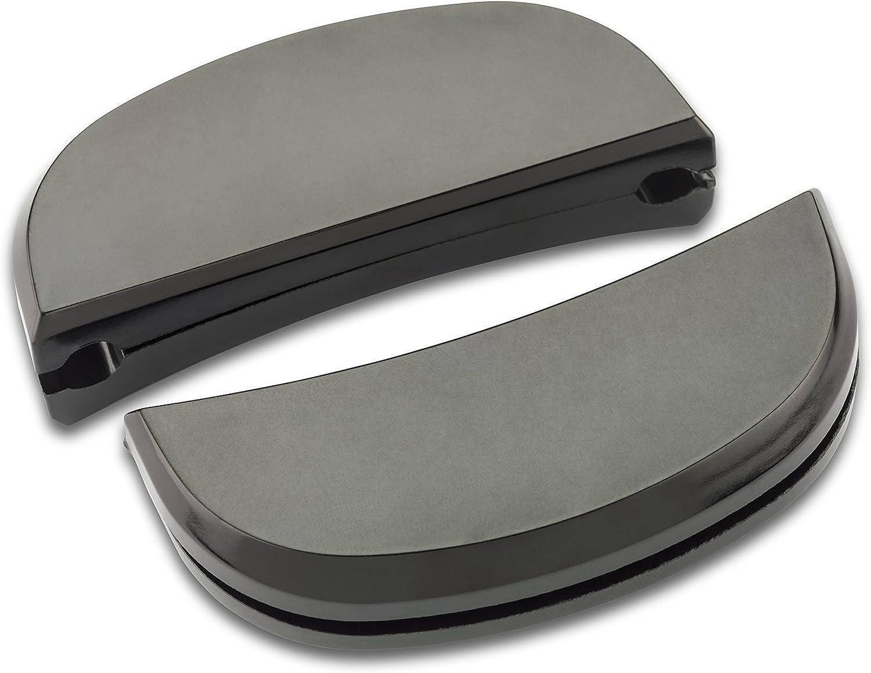 Lagostina Ersatzteile EIN Paar Griffe aus Kunststoff mit Schrauben Schwarz Misura 2 Schwarz
