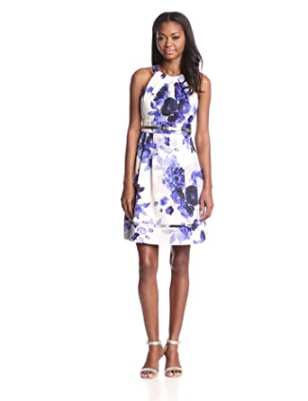 Eliza J Women's Sleeveless Fit and Flare Party Dress, Cobalt, 6