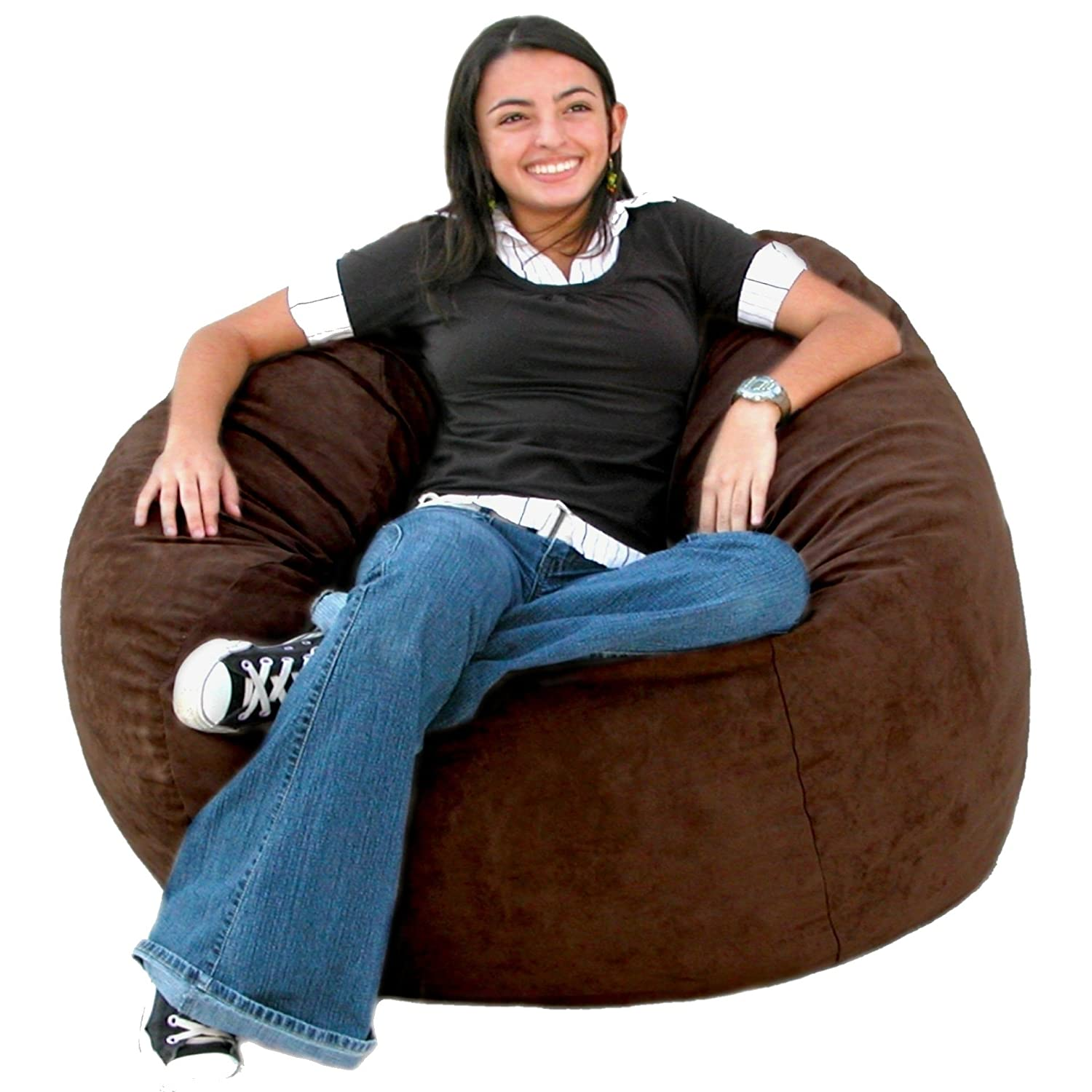 Amazon.com Cozy Sack 3-Feet Bean Bag Chair Medium Chocolate Kitchen u0026 Dining  sc 1 st  Amazon.com & Amazon.com: Cozy Sack 3-Feet Bean Bag Chair Medium Chocolate ...