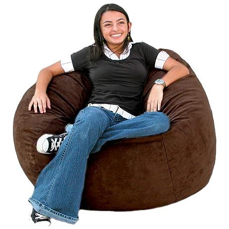 Cozy Sack 3 Feet Bean Bag Chair Medium Chocolate