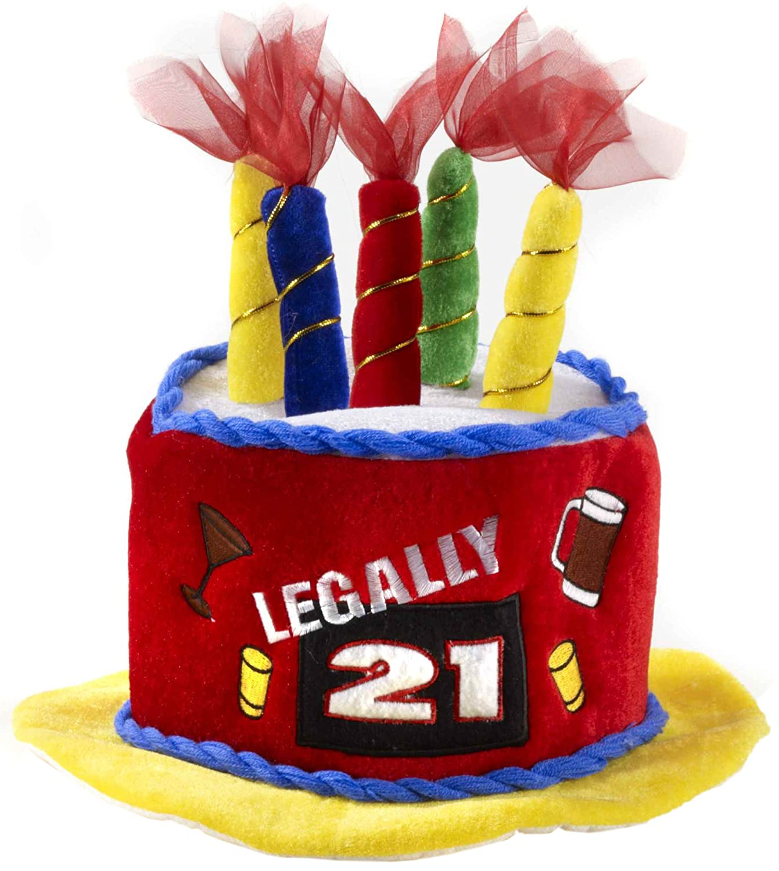 Amazon 1 X Legally 21 Birthday Cake Hat By Forum Novelties
