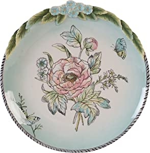 Fitz and Floyd English Garden Luncheon Plate, Salad, Multicolored