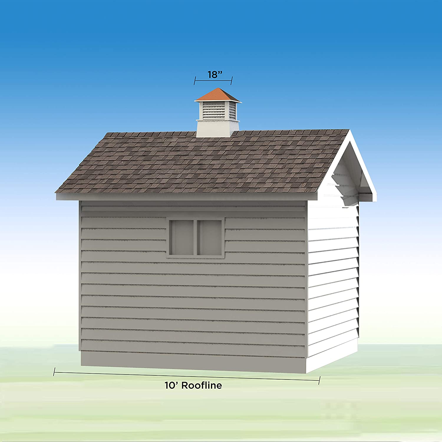 Good Directions Kent Vinyl Cupola with Wood Roof 18 x 22