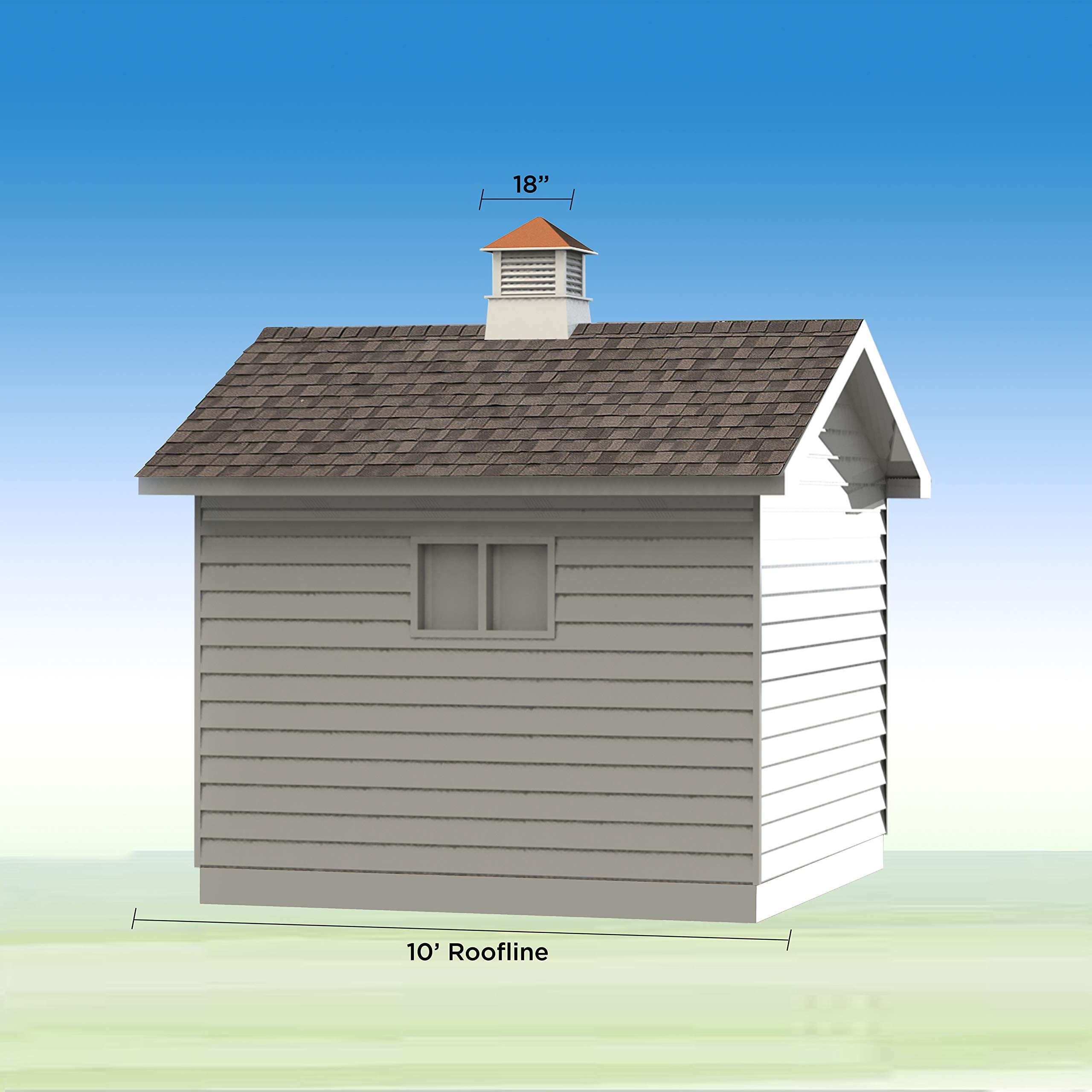 Good Directions 2118WV Windsor PVC Vinyl Cupola with Polished Copper Roof, 18-Inch x 25-Inch by Good Directions (Image #5)