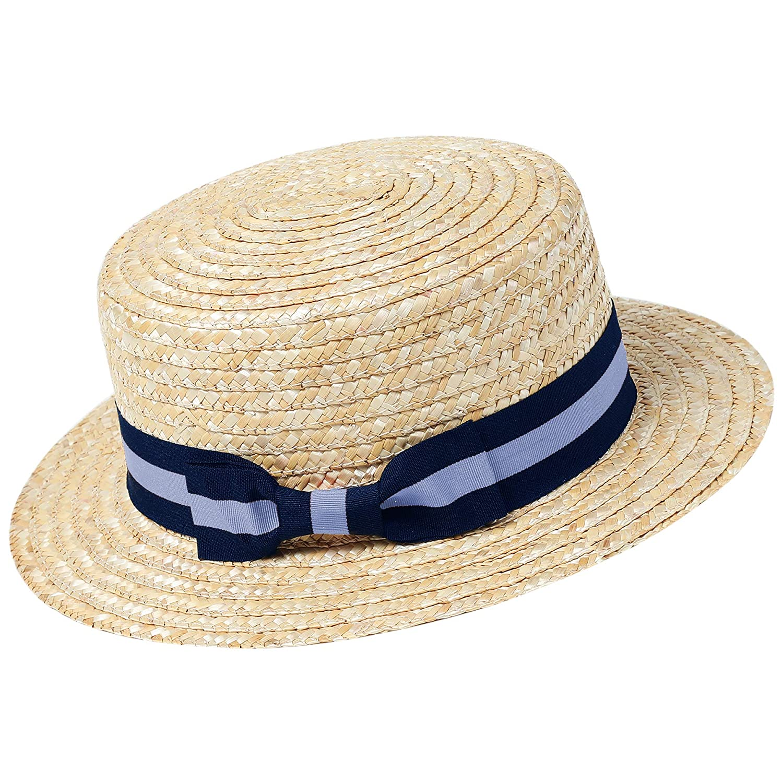ArtiDeco Straw Boater Hat Mens 1920s Mens Gatsby Hat Panama Straw Sun Hats Men Roaring 20s Costume Accesories Men