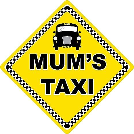 Cartel de coche con texto en inglés Mums Taxi: Amazon.es: Bebé