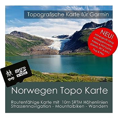 Noruega Garmin tarjeta Topo 4 GB MicroSD. Mapa Topográfico ...