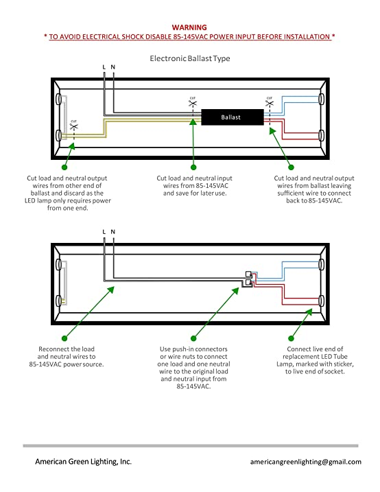 Led tube light wiring diagram dolgular 25 pack lights talk super bypass t8 led tube 18w 2200lm40w or asfbconference2016 Images