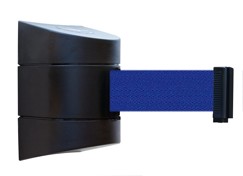 Tensabarrier 897-30-S-33-NO-L5X-C Wall Mount No Custom Blue Webbing Standard Belt End Mount Black Caps 30 Standard 30/' Standard Tensator