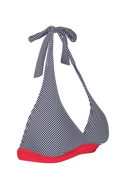 para Vacaciones en la Playa Traje de ba/ño Ligero Secado r/ápido Resistente al Cloro Mountain Warehouse Ocean Notion Top de Bikini Cruzado para Mujer