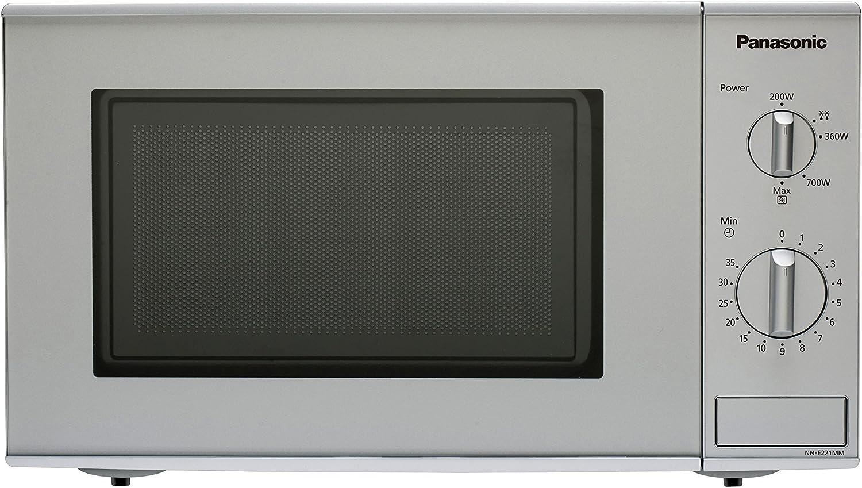 Panasonic NN-E221MMEPG - Microondas (800W, 20 litros), color Gris (Versión Importada)