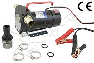 Tuecompra SL Bomba DE TRASVASE Y ASPIRACIÓN DE Aceite Y Combustible 12 V - 40 L/min. INDICADA para Diesel Y GASOIL