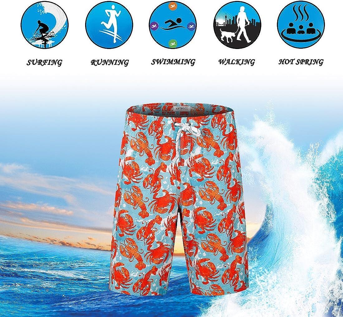 APTRO Mens Shorts Swim Trunks Casual Surf Beach Shorts Quick Dry Board Shorts Casual Home Wear Mens Pajamas 02