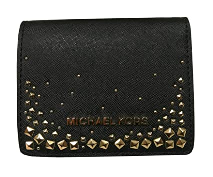 1989655230d3 Michael Kors Giftables Studded Flap Card Holder Safiano Leather ...