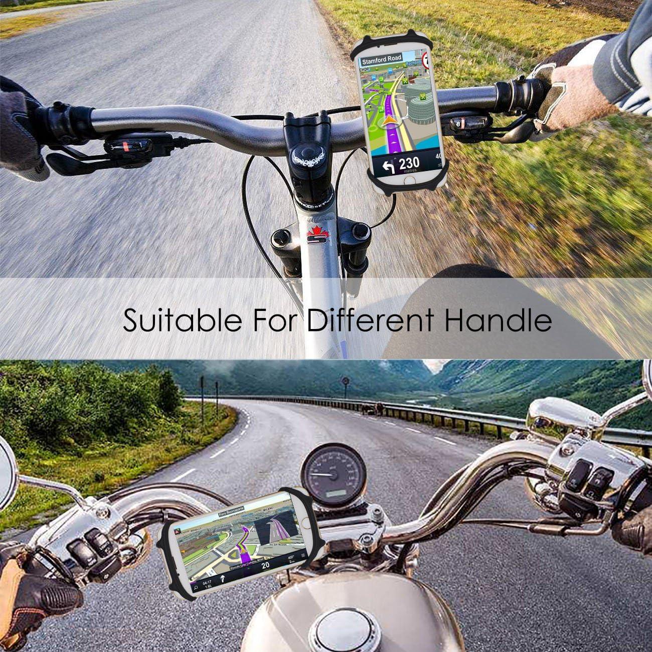 kolpop Soporte M/óvil Bici Soporte Telefono Universal Manillar de Silicona para Bicicleta Moto Compatible con iPhone X 8 7 6 Plus//Samsung Galaxy S9 S8 Plus S7 y 4.5-6.0 Smartphones