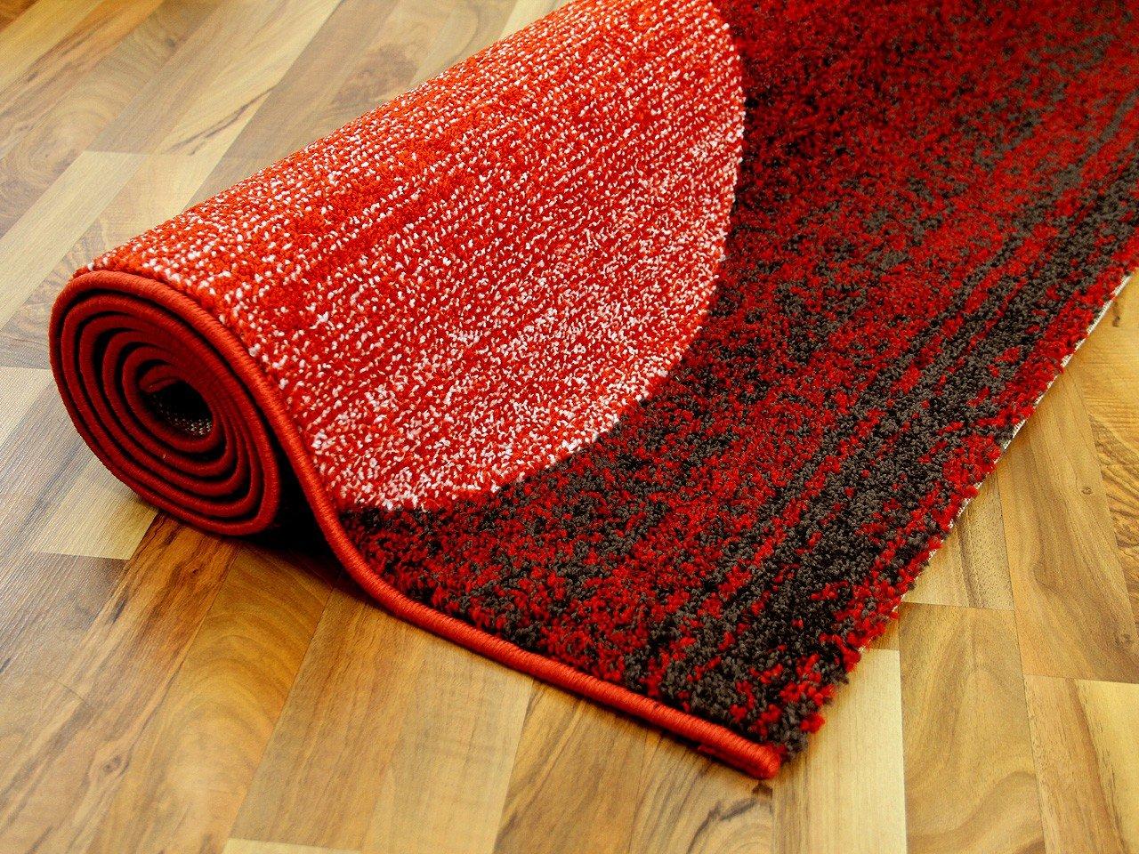 Softstar Designer Teppich Rot Orange Kreise Kreise Kreise in 3 Größen B00ED5HDI0 Teppiche 56713e