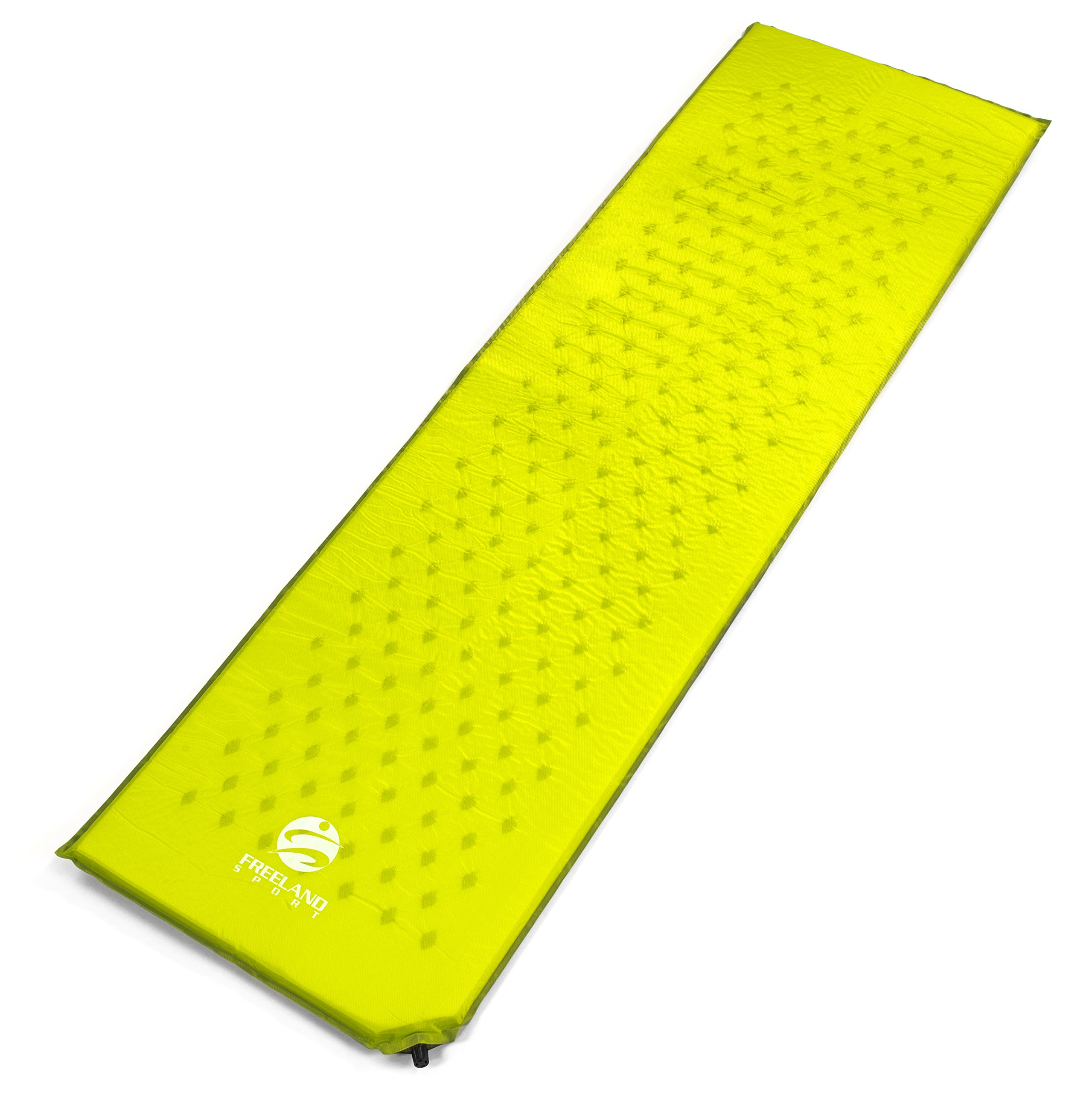 Freeland Sport Camping Self Inflating Sleeping Pad - Ultralight Foam Padding - Inflatable Mat/pad for Camping, Backpacking Hiking and Travel to Sleep Comfortably - Sturdy Air Valve Stops Air Loss