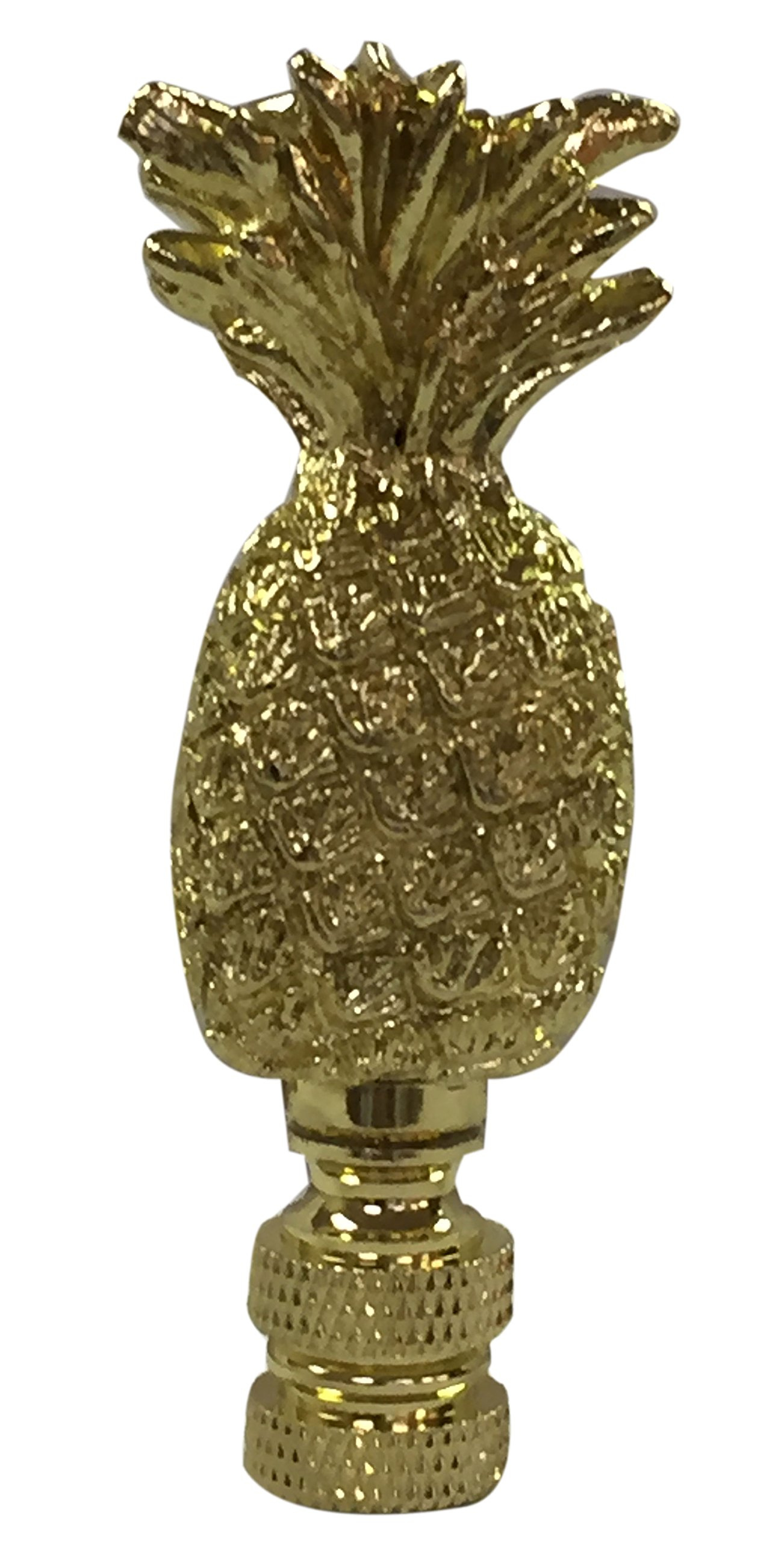 Royal Designs Trendy Resort Pineapple Lamp Finial for Lamp Shade- Polished Brass by Royal Designs, Inc (Image #1)