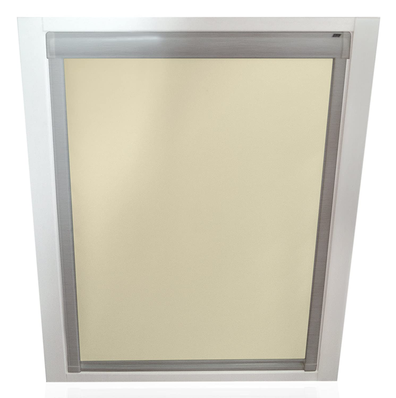 Unbekannt Verdunkelungsrollos für Roto Fenster - - - Profilfarbe Silber - sun collection (auch mit weißen Profilen erhältlich) B00WE6H63M Ballon-Vorhnge 9ba9ab