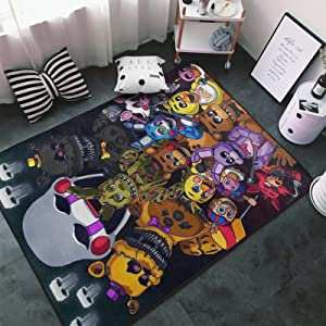 Tsugar Five Nights at Freddy's Area Rugs Living Room Carpets for Children Bedroom Home Decor Yoga Rug 60 X 39 Inches