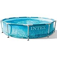Intex Alberca Piscina Circular Beachside Metal Frame 305 x 76cm 28206NP