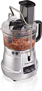 Hamilton Beach Stack & Snap Food Processor 8-Cup with Adjustable Slicing Blade, Built-in Bowl Scraper & Storage Case (70820) (Renewed)