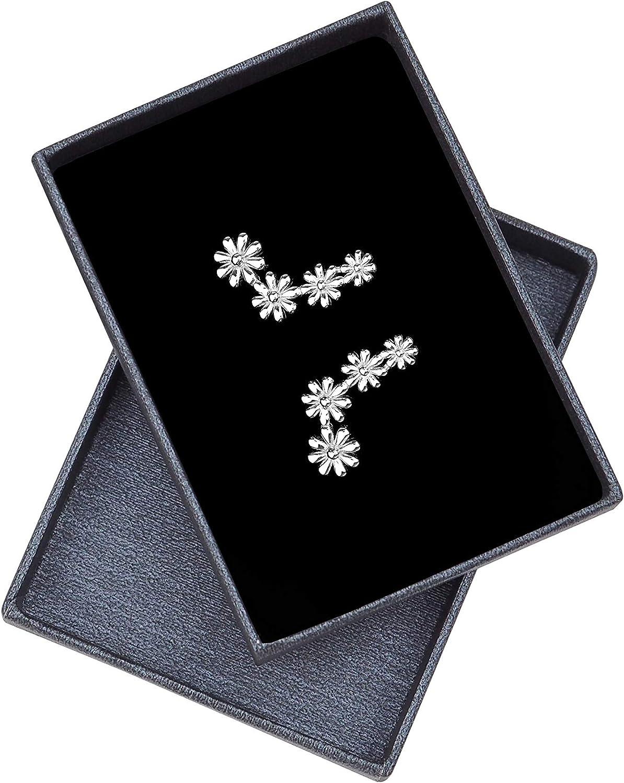 SOFIA MILANI Boucles dOreilles Femme Clous Fleurs 925 Argent 20568
