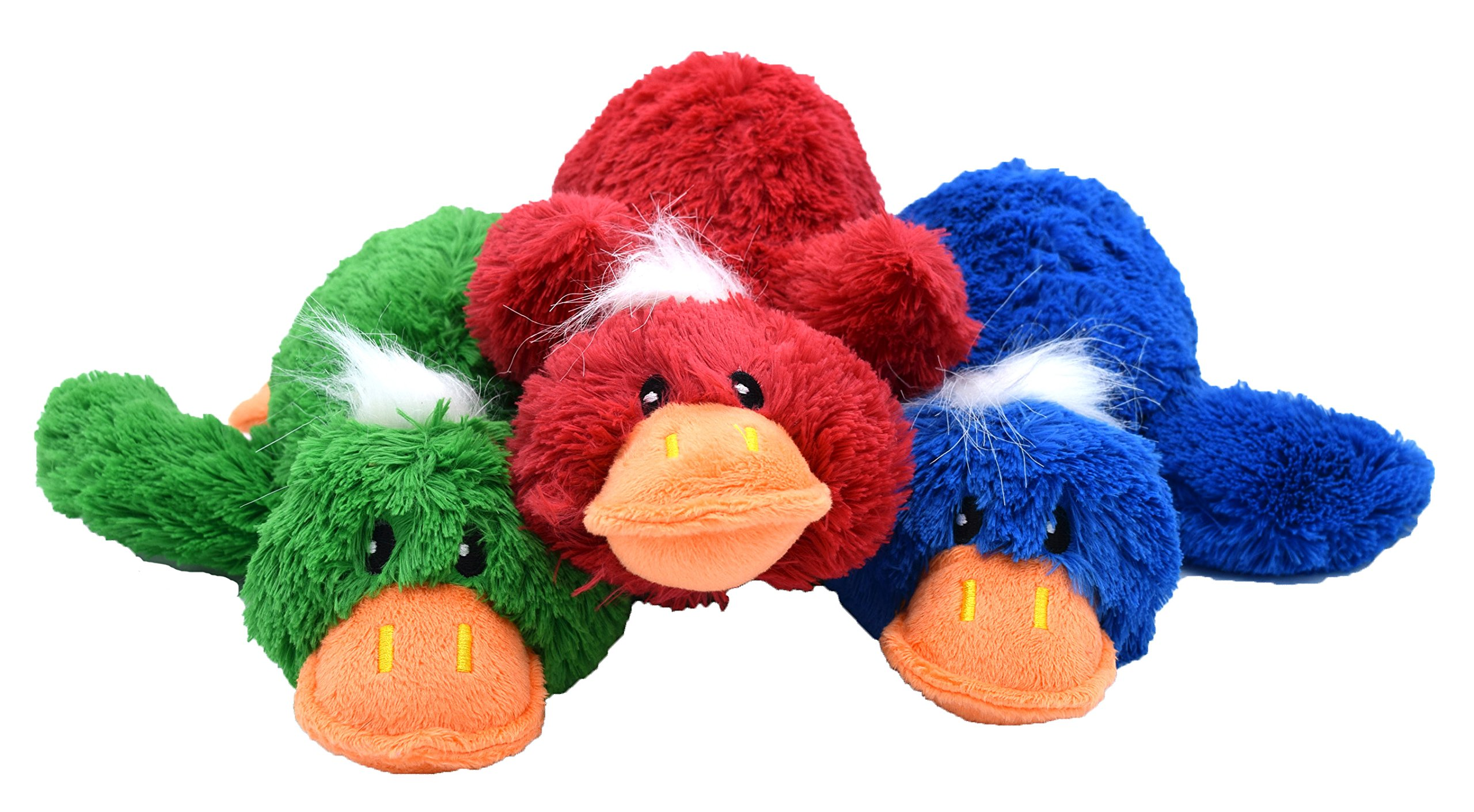 think! dog 12'' Plush Market Ducks with Rope Through Wings