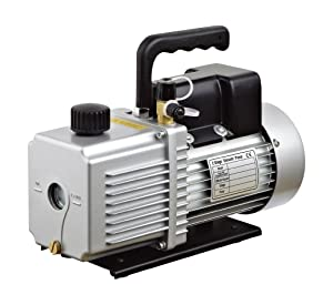 "HFS (R Vacuum Pump Double Stage 12CFM ; 340 L/min ; 110V/60HZ ; Inlet Port: 1/4"" and 3/8"" SAE; Ultimate Vacuum: 2Pa or 15 microns, Power 1HP"
