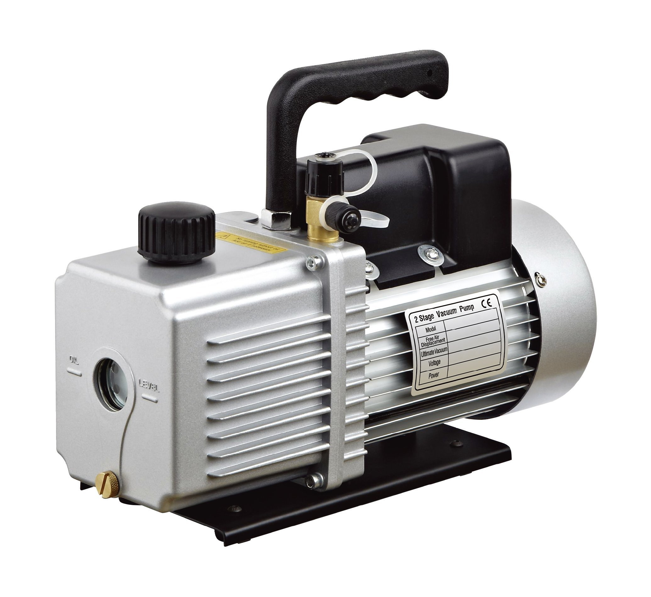 HFS (R) Vacuum Pump Double Stage 12CFM ; 340 L/min ; 110V/60HZ ; Inlet port: 1/4'' and 3/8'' SAE; Ultimate Vacuum: 0.2Pa or 15 microns, Power1HP