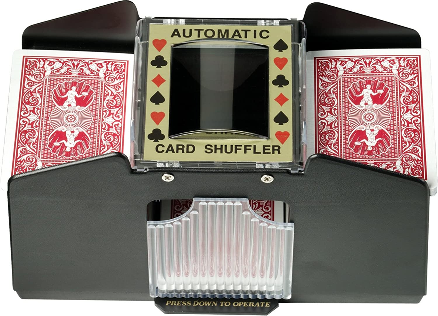 Fat Cat Poker/Casino Game Table Accessory: Automatic Playing Card Shuffler, Holds 1-4 Decks GLD Products 55-0112