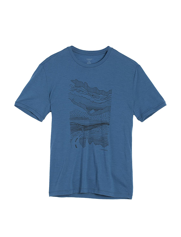 6a0e2eb0c Icebreaker Merino Tech Lite T-Shirt W/Graphic, New Zealand Merino ...