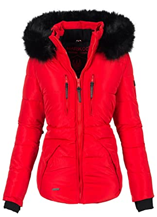 Marikoo Damen Winter Jacke warm gefüttert Winterjacke Steppjacke B381