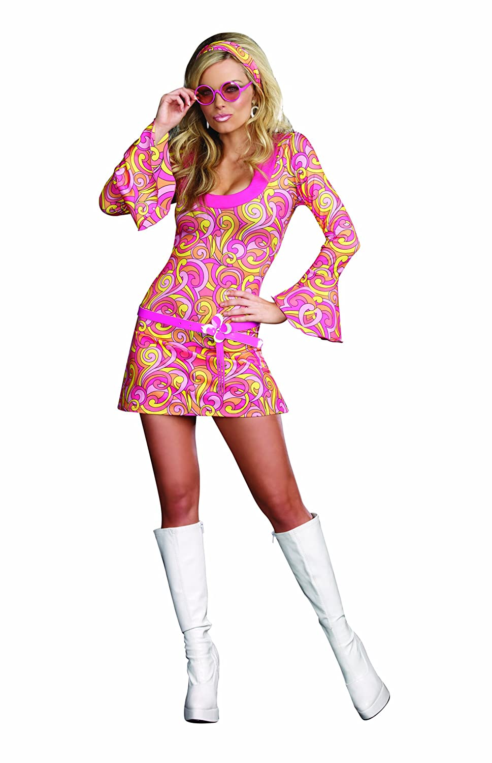 60s Dresses | 1960s Dresses Mod, Mini, Hippie Dreamgirl Womens Go Go Gorgeous Costume $26.99 AT vintagedancer.com