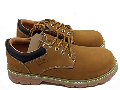 fce142bbd3f Jacata Men's Low-Cut Work Boots Water Resistant Boots Heavy Duty Natural  Rubber Blend Soles (8, Wheat Steel Toe)